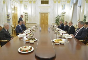 Russian top officials meet with Syrian President Bashar al-Assad at the Kremlin in Moscow