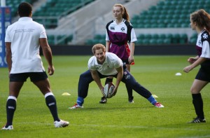 Prince Harry rugby coaching session