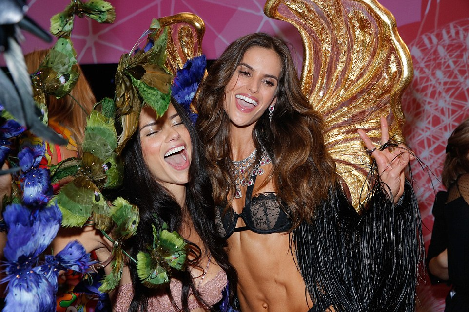 Models backstage at Victoria's Secret 2015 Fashion Show.