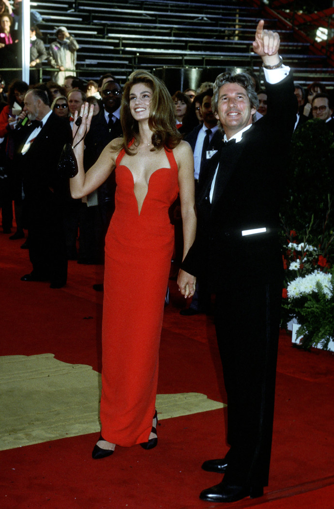 Cindy Crawford and Richard Gere (Photo by Ron Galella/WireImage)