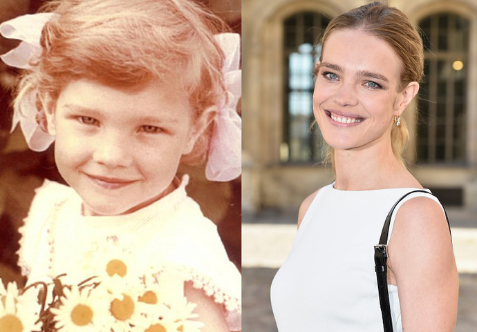 Natalia Vodianova as a child. Pictures from the family album as featured in bok by Alan Philps