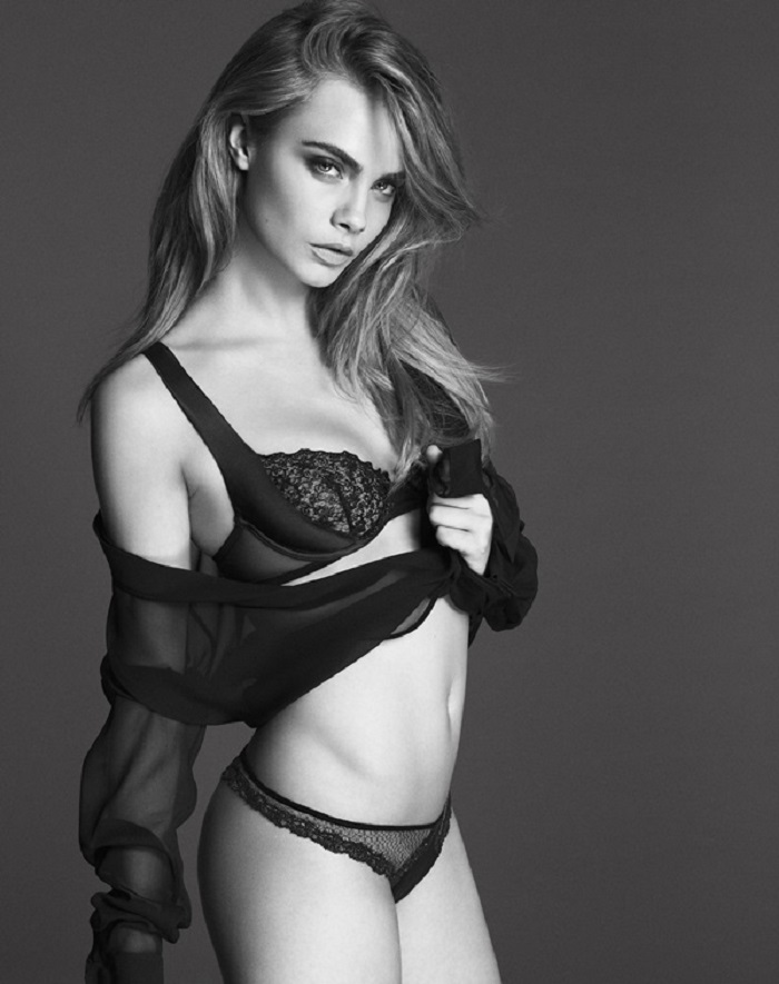 Cara Delevingne modelling for La Perla Featuring: Cara Delevingne When: 07 Jan 2014 Credit: Supplied by WENN.com **This is a PR photo. WENN does not claim any ownership including but not limited to Copyright or License in the attached material. Fees charged by WENN are for WENN's services only, and do not, nor are they intended to, convey to the user any ownership of Copyright or License in the material. By publishing this material you expressly agree to indemnify and to hold WENN and its directors, shareholders and employees harmless from any loss, claims, damages, demands, expenses (including legal fees), or any causes of action or allegation against WENN arising out of or connected in any way with publication of the material**